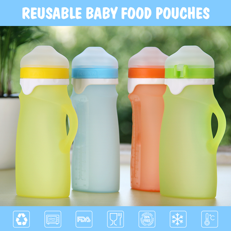 flow control food grade silicone breastfeeding baby bottle for 3 month