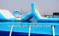 high quality commercial inflatable water pool obstacle course game for sale