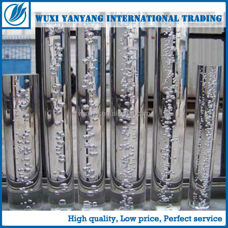 Custom multi-style high quality clear cast acrylic rod with bubble wholesales