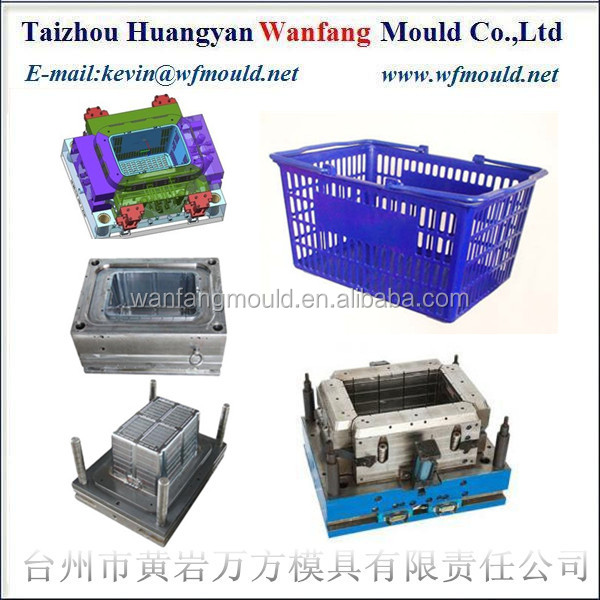 China plastic market basket mold supplier/Chine fournisseur de moules de panier en plastique