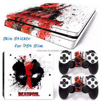 Newest For Sony Playstation 4 Slim Console Skin For PS4 Slim Vinyl Sticker