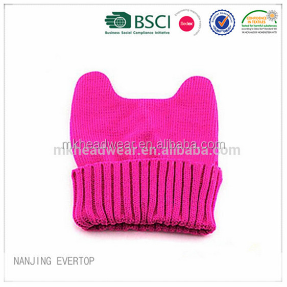 Lovely Girls Fashionable Cat Ear Winter Knitted Hats