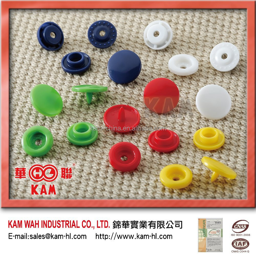 Fancy style KAM Plastic Snap Button