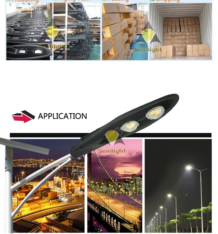 New arrival COB dali IP65 integrated road lamp 80W led street light light control photocell
