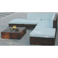 HC-J020 modern style outdoor rattan sofa set without arm