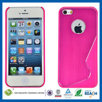C&T Double Color Small Pretty Waist Aluminum Metal Case for iphone 5s cell phone