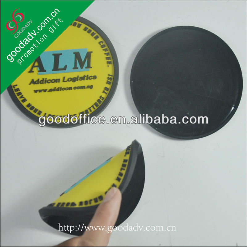 high quality and fashion gift OEM soft pvc cup coaster