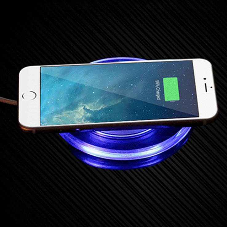 Qi Wireless Charger With Led Light