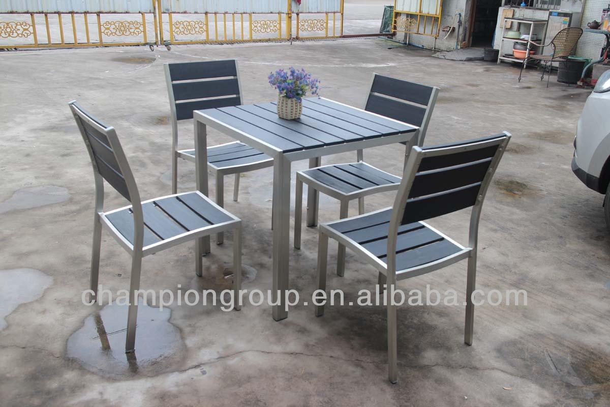 In alluminio legno plastica 4 persone cafe pranzo insieme for Mobili da giardino in plastica