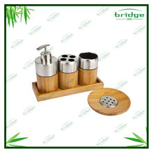 Novelty simply bamboo bathroom accessories set