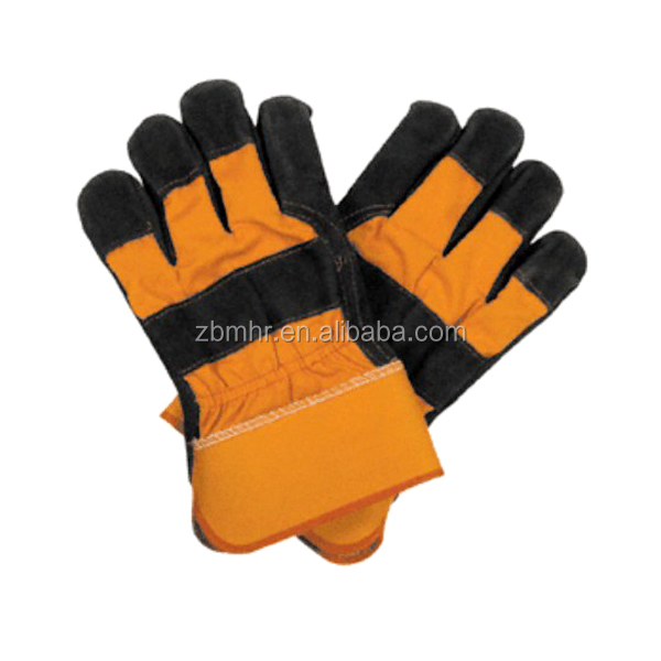 Brand MHR cow split leather working industrial glove with cheap price