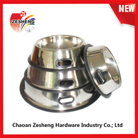 Stainless steel punching pet bowl dog basin