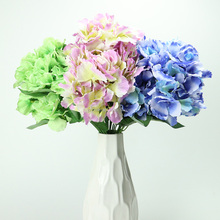 Wholesale Silk 7 Heads 49cm Large Cheap Artificial Hydrangea Flower for Decoration