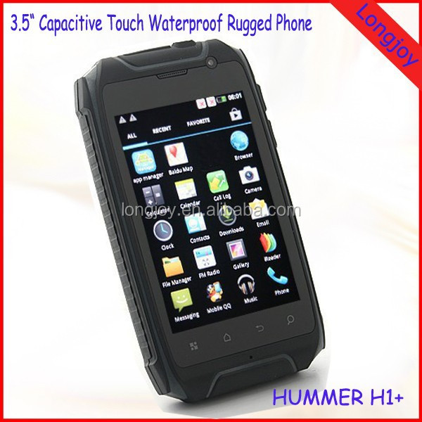 Best Price IP67 Waterproof Hummer H1 3.5 Inch Android 4.1 3G WCDMA 850/2100mHZ Smartphone