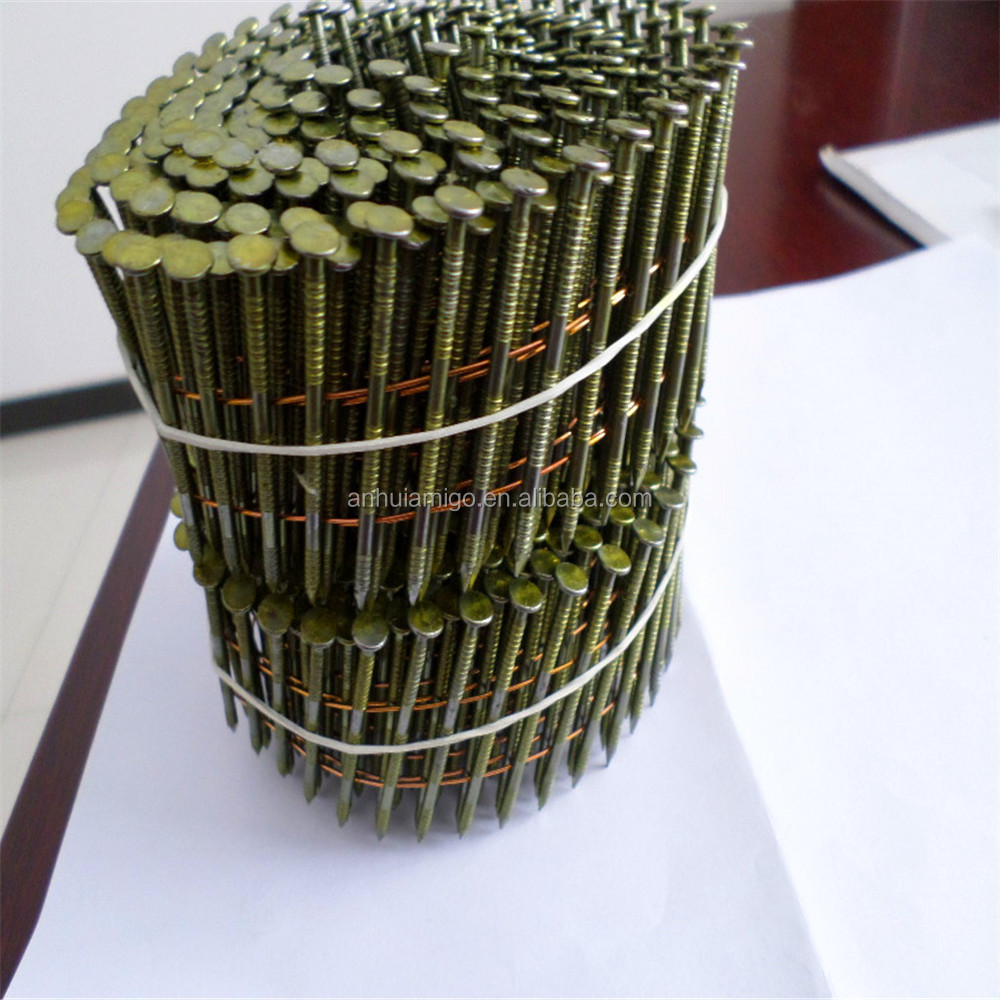 China manufacturer provide high quality all sizes gun nails in coil for wooden pallets