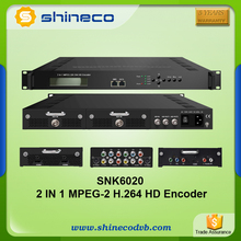 IPTV Headend System HD Encoder with 2 channel MPEG-2 H.264 HDMI/SDI/YPbPr/CVBS input