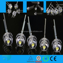 fashionable products white 8mm straw hats led diode