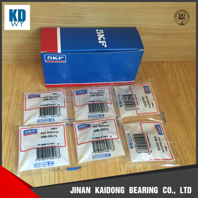 SKF high quality miniature ball bearing 608-2Z/C3 608 size 8x22x7