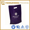 Supermarket clothes shopping die cut plastic bag with logo
