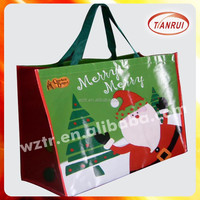 Custom Christmas PP laminated non-woven fabric gift bag