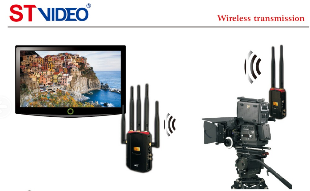 5Ghz 300m-700m 1080P HD wireless transimission with transmitter and receiver