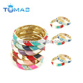 Pop sale colorful enamel zinc alloy bracelet