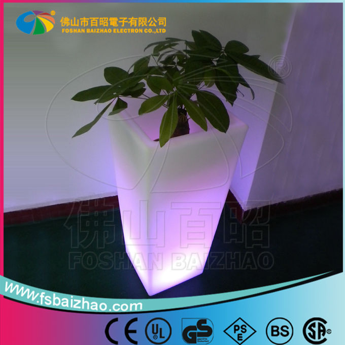 Battery powered led plant pot/LED fruit pot/led pot light