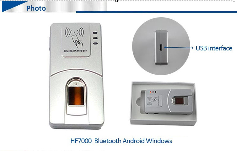 HF-7000 Wireless Bluetooth Php Java Free SDK China Fingerprint Reader 2Years Warranty