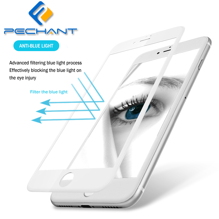 Blue Light Filter 0.2mm 9H Hardness UV Block High definition HD Clear Premium Tempered Glass Screen Protector For iPhone 7 Plus