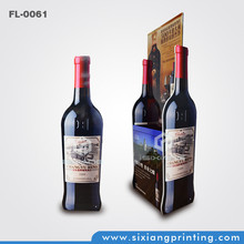 Supermarket Promotion Corrugated Paper Market Bottle Shape Wine Rack