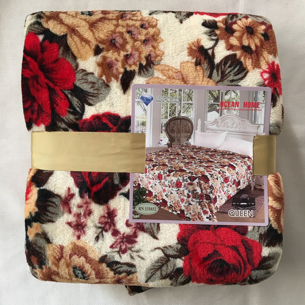 cheap extra thick fleece blanket 100% polyester in china