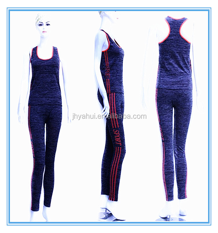 Lady's workout sport wear yoga set fitness gym wear set