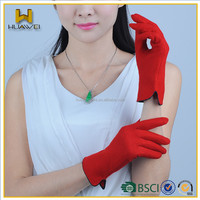 Wholesale Womens Touch screen Red Wool Gloves
