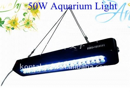 3W Aquarium LED Lighting Bar Fixture Controller 50W Marine Coral Reef Lights Fish Tank System UV With Lens