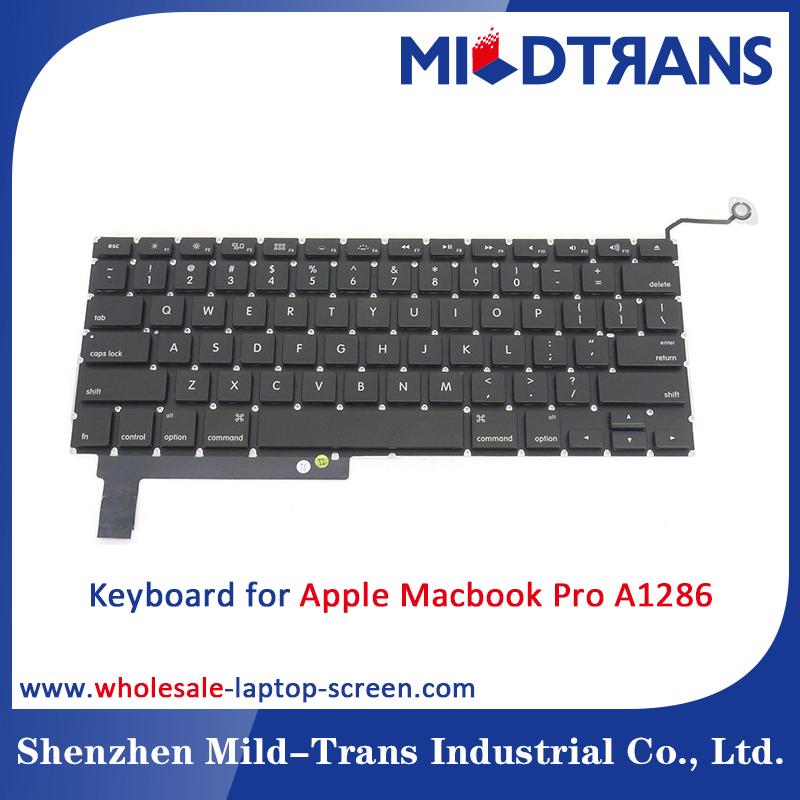Wholesale Alibaba China suppiler keyboard for apple macbook pro a1286 laptop