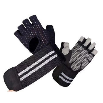 Prime rubber palm protection non-slip gym gloves for weight lifting