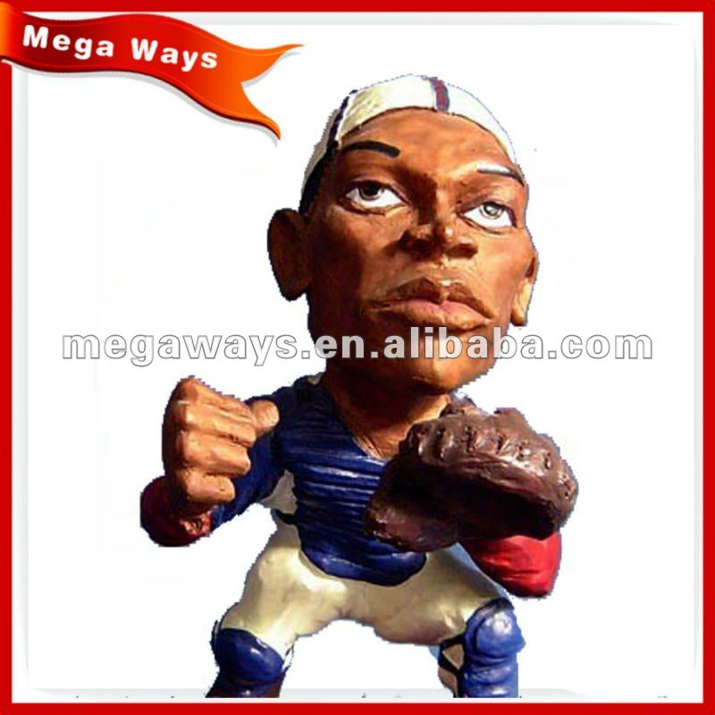 sport player bobble head figurine for gift