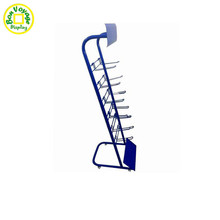 Wholesale floor metal hook display stand for mobile phone accessories
