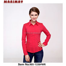 Factory Price Best Quality Ladies Shirt Design For Autumn Chinese Collar Blouse,Wholesale Clothing WWW Alibaba COM Brazil