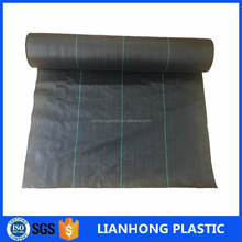 Agricultural plastic ground cover black pp woven fabric roll