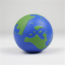 Lucky Craft PU foam 65mm promotional gifts soft reliever toys globe shape anti stress balls