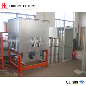 120kw Power frequency cored induction furnace for brass aluminum iron steel