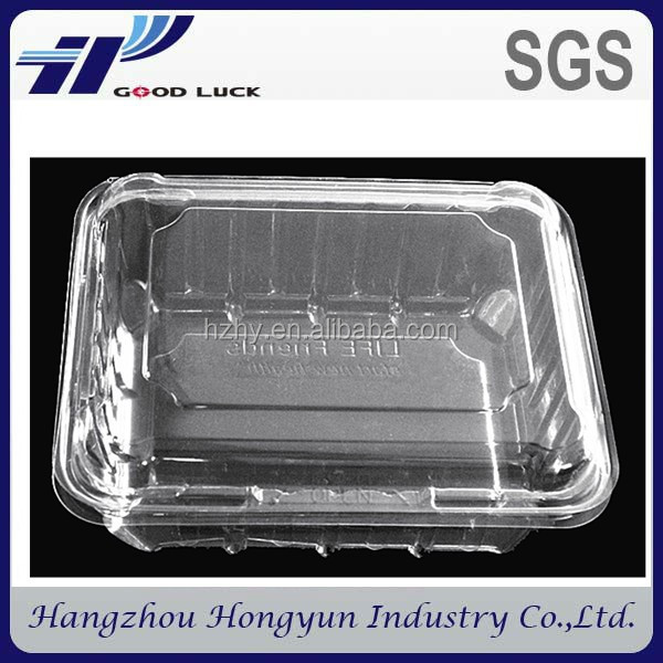 China wholesale custom clear eco-friendly plastic blister folding box for vegetables / food