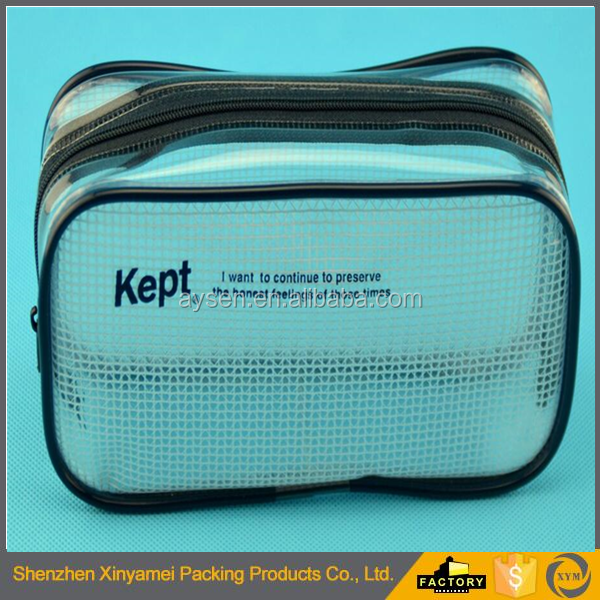 Transparent Soft Plastic PVC Zipper Cosmetic Packaging Bag PVC Stand up Pouch Bag