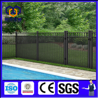 Custmoized cheap flat top pool fence, swimming poolfence