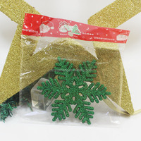 plastic christmas flat green star ornaments