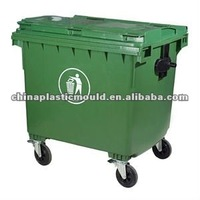 HDPE High quality Outdoor Wheeled bin 1100L