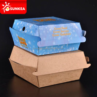 Luxury Customize food packing box / paper burger box/paper hamburger box