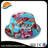 Dongguan promotional colorful custom floral tie dyed bucket hat