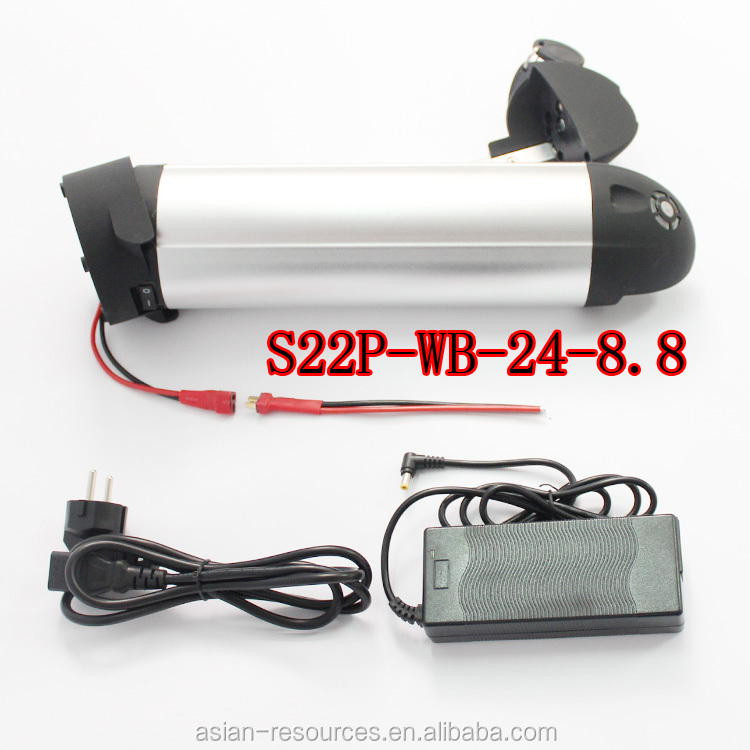 New Year Gift S22P-WB 24V 8.8Ah Electric Bicycle Polymer Lithium Battery 3.7V 2.2AH For Samsung 10A 3C Powerful Cell Battery